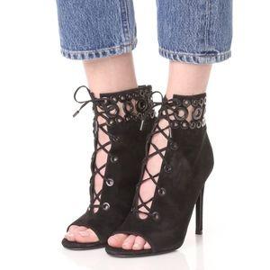 New Kendall & Kylie Giada Peeptoe Booties in Black